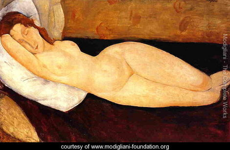 Reclining-Nude,-Head-Resting-on-Right-Arm