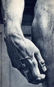 Michelangelo's 'David'. (Detail.)